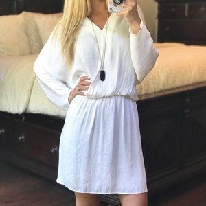 Zara Basic White Long Sleeve Dress